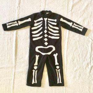 Pottery Barn Kids 2T 3T Skeleton Halloween Costume
